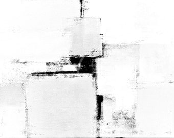 Digital Download - Surround, Black and White Abstract Artwork