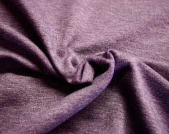 "Heathered Purple Fleece Fabric 58""/60"" Wide Per Yard"
