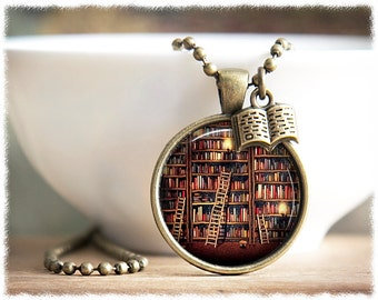 Book Necklace • Gifts For Readers • Book Lover Jewelry • Bibliophile • Literary Gifts • Librarian Gift