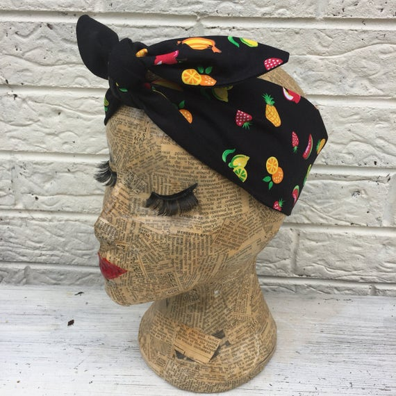 Tropical fruit Headscarf Rockabilly Pinup
