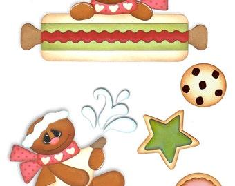 Scrapbook, Scrapbooking, Gingerbread die cuts, Christmas die cuts, Gingerbread, Scrapbook embellishments, Card making, scrapbook supplies
