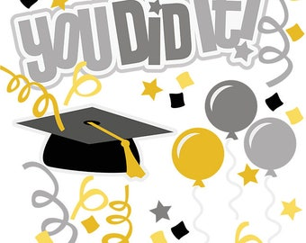 Scrapbook, Scrapbooking, Graduation die cuts, Die cuts, Graduation, High school graduation, Scrapbook embellishment, graduation card making