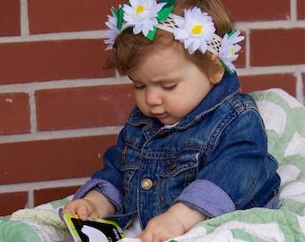 Daisy halo headband