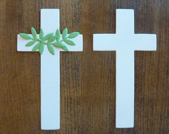 Cross 50 Paper Die Cut Memorial Christmas Easter Baptism Confirmation First Communion Decor Supply Lot