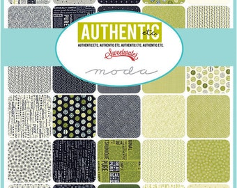 NEW - AUTHENTIC etc. Charm Pack by Sweetwater for Moda