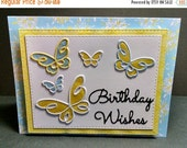 Shop Closing Sale Butterfly Happy Birthday Card - Birthday Cards - Butterfly Cards - Die Cut Cards - Birthday Wishes Cards