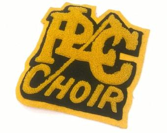 Vintage Varsity Letter Felt, Varsity Choir Letter Patch, Letterman's Patch Vintage
