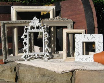 Distressed Picture Frames / Shabby Chic Wall Decor / Farmhouse Rustic Picture Frames