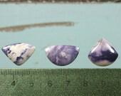 Bertrandite ( Tiffany Stone) handcut freeform cabochons set 3
