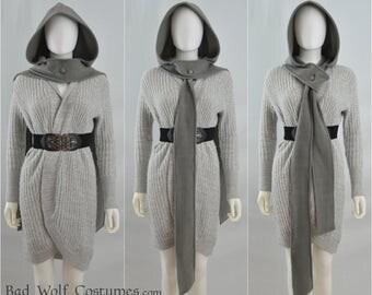 Hooded Owl Scarf - Color Options! - Fantasy, elven, woodland - warm, elegant, classy, cozy