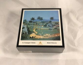 "Michel Delacroix ""La Campagne Cubaire"" Empty Montecristo Cigar Humidor Box"