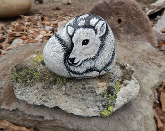 Mountain Goat Painted Rock, Mountain Goat Art, Painted Rock Animal, Mountain Goat Painting