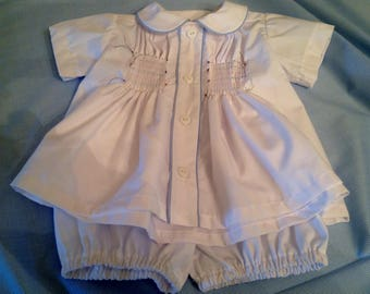 READY TO SMOCK Diaper Set for Boys or Girls, Diaper Shirt and Bloomer Set for Boys or Girls.