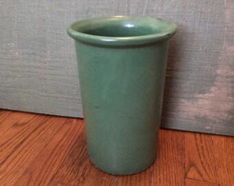 Unmarked Large Cylinder Art Pottery Vase