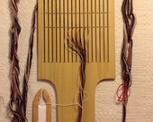 Paddle Tape Loom with Chip Carving