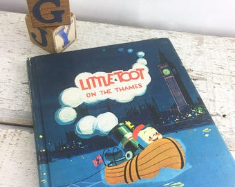 Vintage Children's Book - Little Toot on the Thames