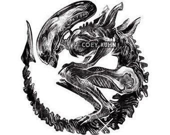 Coey: Xenomorph (Holographic Sticker)