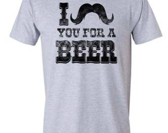 I Mustache You to Be Mine | Valentine's Day Tee | Adult T-shirt