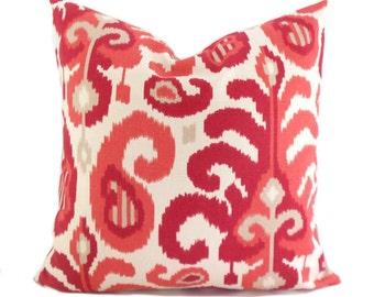Pillow Covers ANY SIZE Decorative Pillow Cover Designer Pillow Red Pillow Ikat Pillow Suburban Ikat Rasul Berry