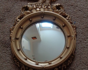 Vintage SYROCO Wall Hanging Mirror with Eagle