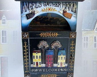 """Key keeper """"Angels gather Here"""". Handcrafted"""