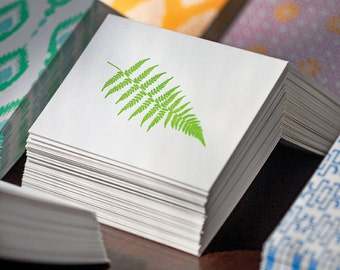 Fern Letterpress Card Set