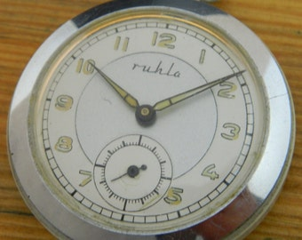 Germany Pocket Watch Ruhla  #828S