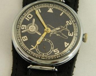 Swiss Wrist Watch Laco Aviator Pilot WWII #948S