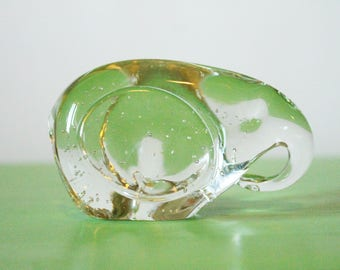 Vintage Glass Elephant Paper Weight