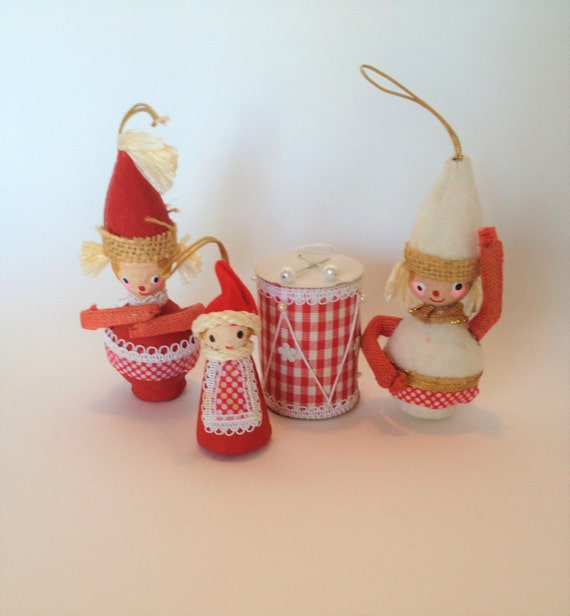 Vintage Mr. Christmas Ornaments 1969 Made in Japan Paper