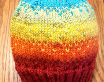 Rainbow Fade Hat