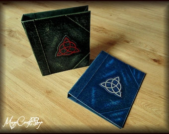 A4 Ring bind/folders CHARMED style with two rings - handmade and customizable - BIG size 26x32x5 cm