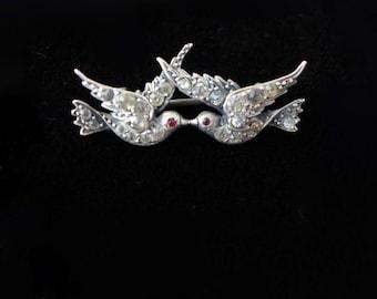 Antique Victorian Swallow Brooch