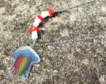 Cute Rainbow Cloud Necklace