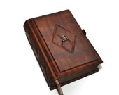 Brown leather journal, antique style 8.1''x5.3'' (20,5x13,5 cm), OOAK journal, book of secrets, traveler jouranl, blank notebook diary