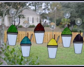 NOLA SnoBall Stained Glass Suncatchers
