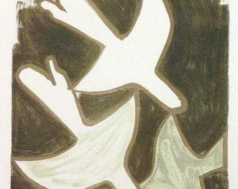"""Braque 10 """"Braque sur quatre murs"""" Mourlot 1959 Art in posters"""