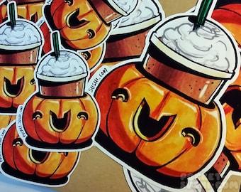 Pumpkin Spice Latte / Halloween Frappe Sticker
