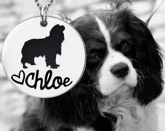 Cavalier King Charles Spaniel Necklace   Personalized Dog Necklace   Personalized Gifts   Dog Gift   Korena Loves