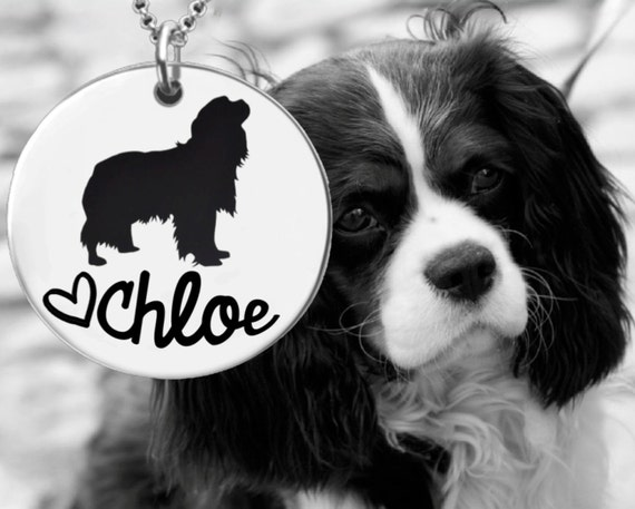 Cavalier King Charles Spaniel Necklace | Personalized Dog Necklace | Personalized Gifts | Korena Loves
