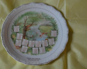 A Calendar Plate from the Year 1910