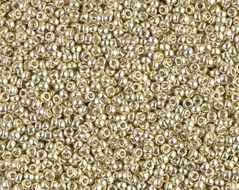 11/0 Toho PermaFinish Galvanized Aluminum Seed Beads - 11/0 PermaFinish Toho Galvanized Aluminum Seed Beads - 10 grams, 3576, Toho 11-PF558