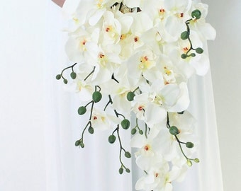 Orchid Bouquet in a Cascade Style
