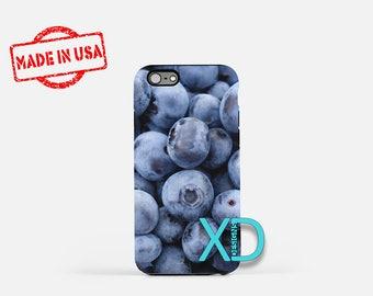 Blueberry iPhone Case, Fruit iPhone Case, Blueberry iPhone 8 Case, iPhone 6s Case, iPhone 7 Case, Phone Case, iPhone X Case, SE Case New