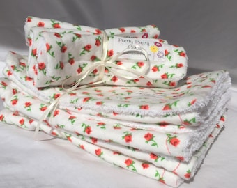 Rose Burp Cloths & Washcloths Set