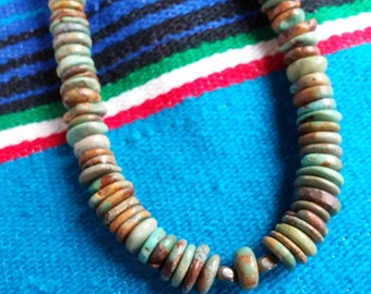 Turquoise Necklace, Genuine Turquoise, Tribal Style, Turquoise Jewelry, Gift for her,Southwestern Jewelry
