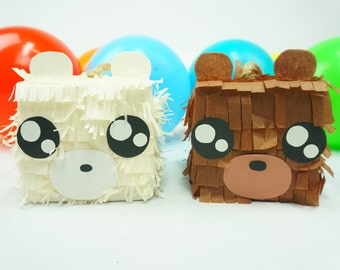 Pre-filled Pinata Treat Box Teddy Bears I Kawaii Party | Surprise Pinatas Set of 3 | Loot Bags | Fun Tabletops | Party Favors
