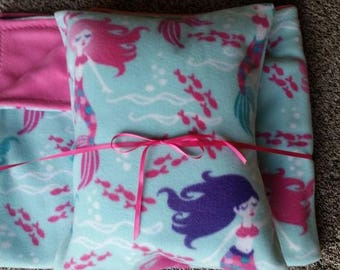 Mermaid Kids Blanket and Pillow Set