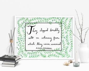 F.Scott Fitzgerald Love Quote Print
