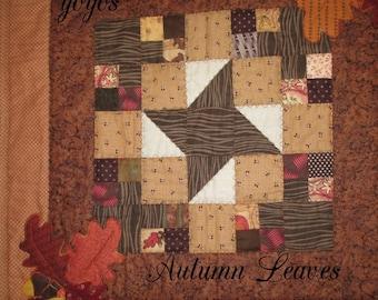 AUTUMN ACORNS APPLIQUE Patchwork Quilt Home Décor Table Mat Wall Hanging